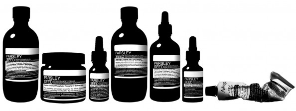 Aesop, skincare, parsley seed range