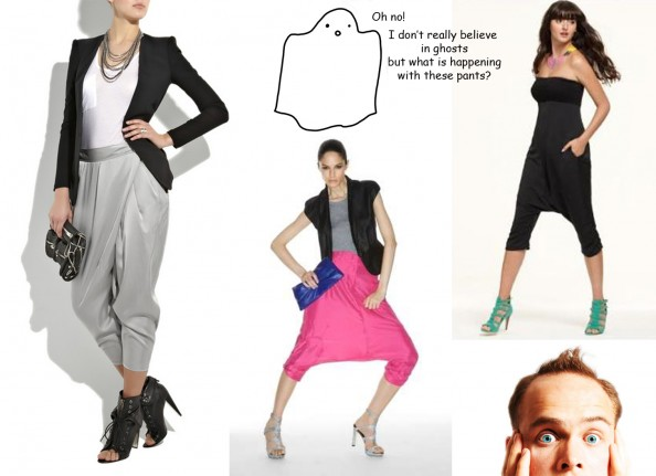 Harem pants, ghost, styling advice, Crashingred, fashion blog
