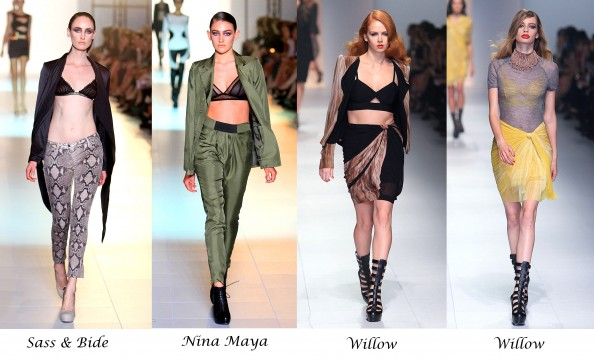 Trend report, LMMF 2011, Winter 2011, Australian designers, bra as a top, bra with a suit