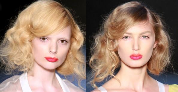 Dhini, RAFW 2011, makeup trend, bold lips, orange, fuchsia lipstick, Sydney beauty blog