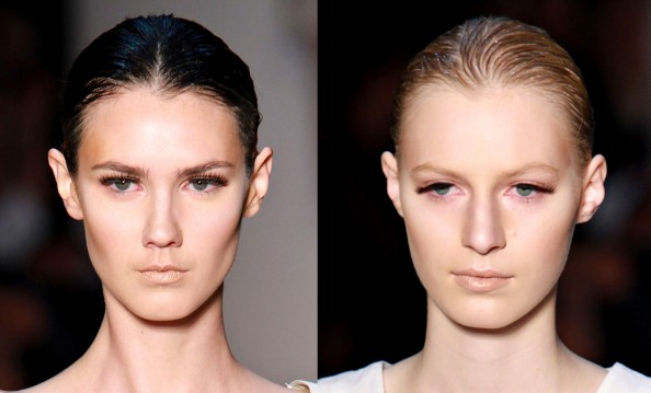 Flannel, false lashes makeup trend, RAFW 2011, glowing skin makeup trend, bronzed complextion