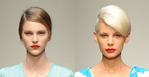 Gary Bigeni, new makeup trend, bright orange lips, RAFW 2011