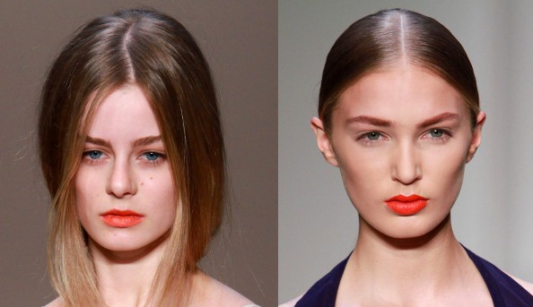 Karla Spetic, Yeojin Bae, makeup trend, bold orange lips, RAFW 2011,