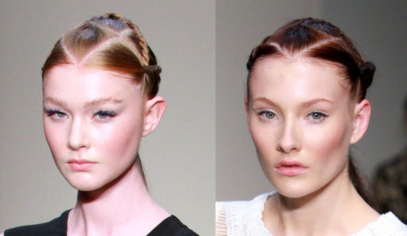 Magdalena Velevska, false lashes, glowing skin, makeup trend 2011 2012, RAFW 2011, peach cheeks