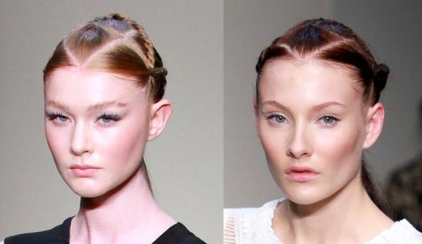 Magdalena Velevska, false lashes, glowing skin, makeup trend 2011 2012, RAFW 2011, peach cheeks