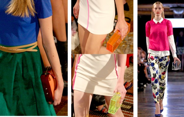 Plastic purse, bright lether handbag, fashion trend 2011 2012, Camilla and Marc, RAFW 2011