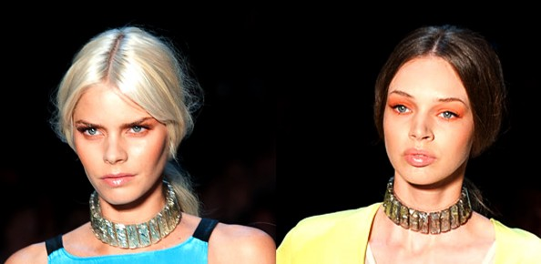 Shakuhachi, RAFW 2011, makeup trend, Sydney fashion blog, bold orange eyeshadow, how to