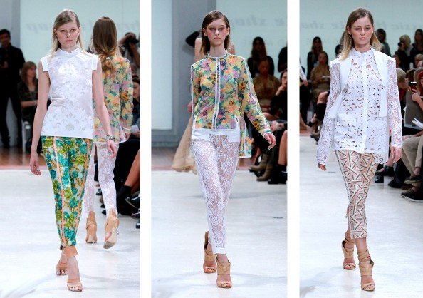 Zimmermann, floral print pants, lace, digital print, RAFW 2011, winter fashion trend