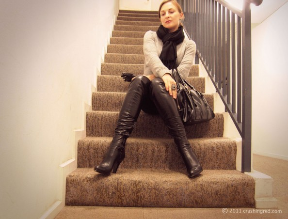 Outfit of the day_winter_style_fashion blog_sweater dress_long boots_Sydney_maria Vlezko 0202