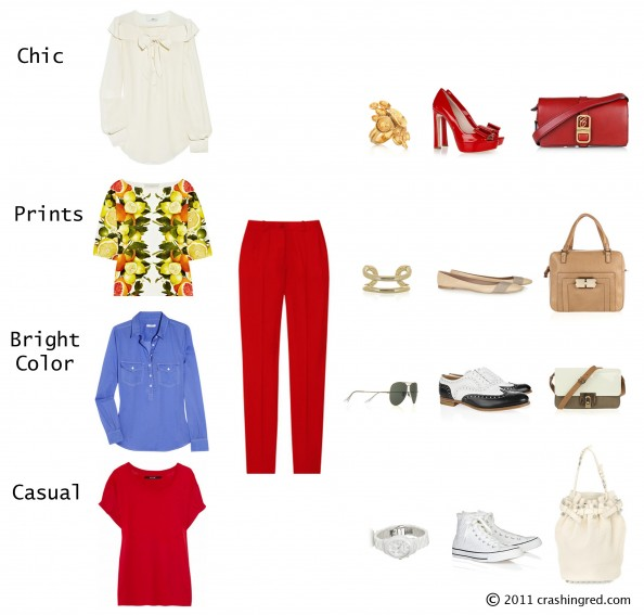 Style ideas red pants, red jeans, styling advice, bright color trend, chic style, casual style, sydney fashion blog