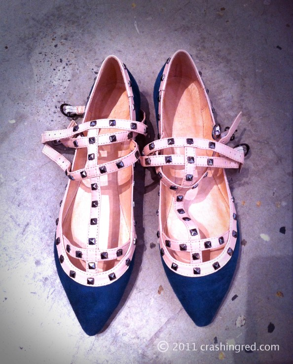Zomp shoes, winter shoes, new season fashion,Valentino flats alike, green blue color, Sydney fashion blog
