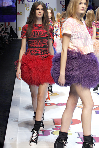 Dolce and Gabbana red tutu with converse shoes, new season style, eclectic