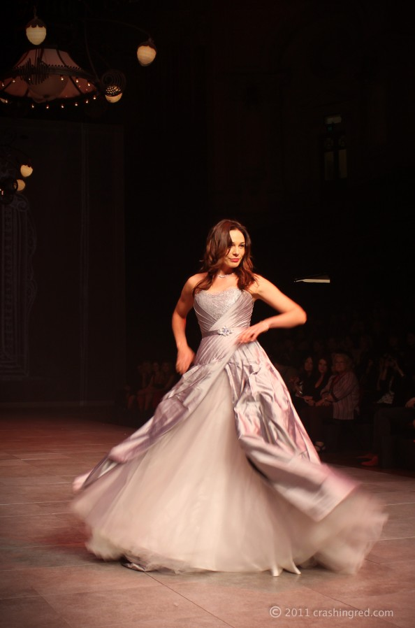 6 MBFFSydney fashion targets cancer caren willis holmes evening gown runway for research