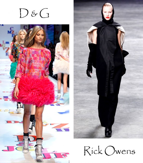 outfit inspiration for fashion week, dressing up, creative outfit, fashion blog, crashingred, rick owens, dolce and gabbana