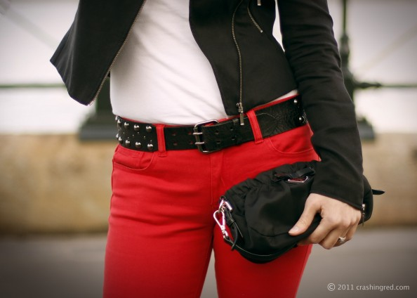 red jeans, colord denim, style, new season fashion, 2011, fashion blog Australia