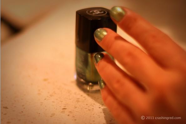 Chanel peridot new season nail polish nail color in fashion, review, swatch, fashion blog australia