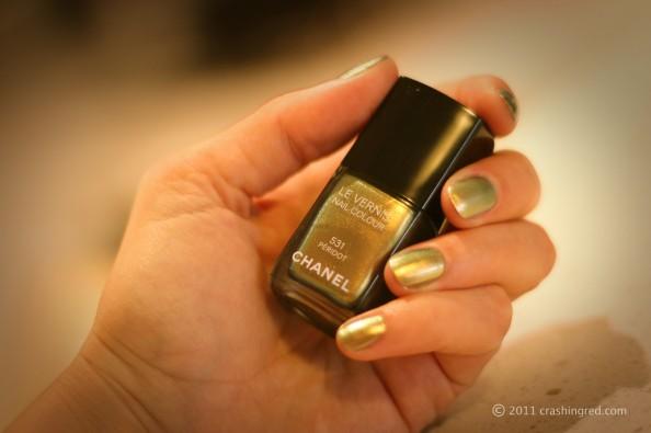 Chanel peridot new season nail polish nail color in fashion, unusual nail color, fashion blog australia