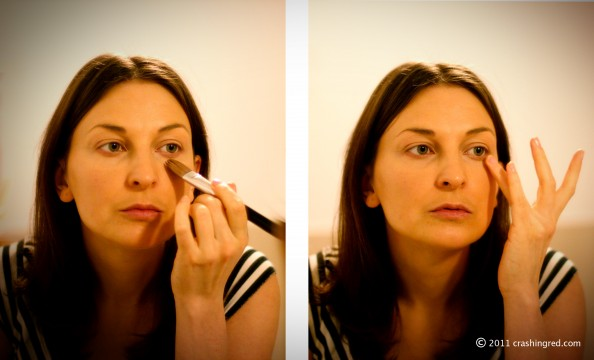 How to hide dark circles makeup tips, crashing red australian fashion beauty blog