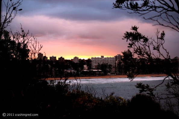 Shelly beach park, sydney northern beaches, sunset, Manly beach, lifestyle blog