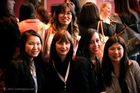 Amy from ThingsILove, Jennise from PinkRibbons, Megan from BeautyInTheSky, Celeste from Becoming Beautiful, ABBW 2011, beauty bloggers