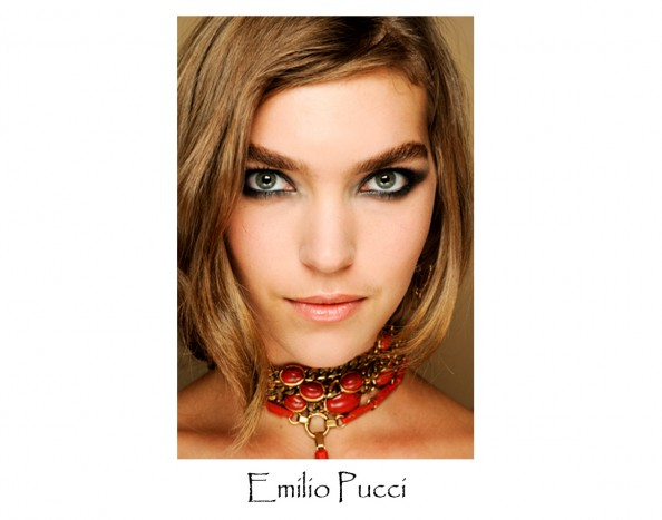 Emilio Pucci, arizona muse, make up trend 2012, milan fashion week, smoky eye, bushy eye brows, beauty blog sydney