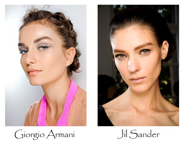 Giorgio armani, jil sander, beauty trends 2012, milan fashion week, feminine makeup, beauty blog sydney