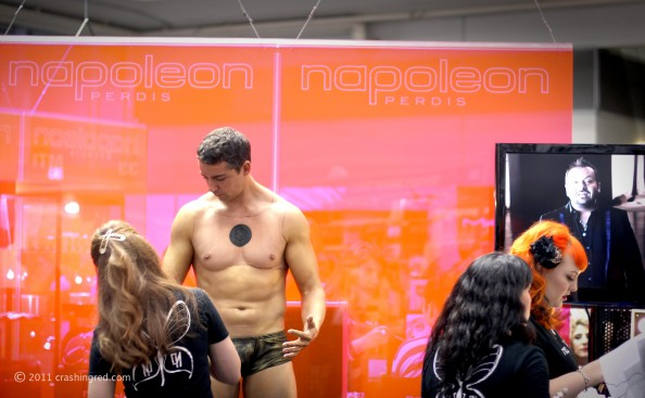 IMATS 2011, Napoleon Perdis booth, makeup for movie, ABBW 2011, beauty blog