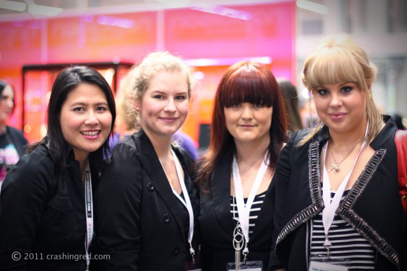 IMATS 2011, Norlin, Tegan and Annica, beauty blog crashingred, sydney
