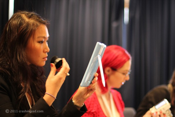 Jennise {PinkRibbon} and Jeneara {JenearaCosplay} at Face Of Australia makeup class