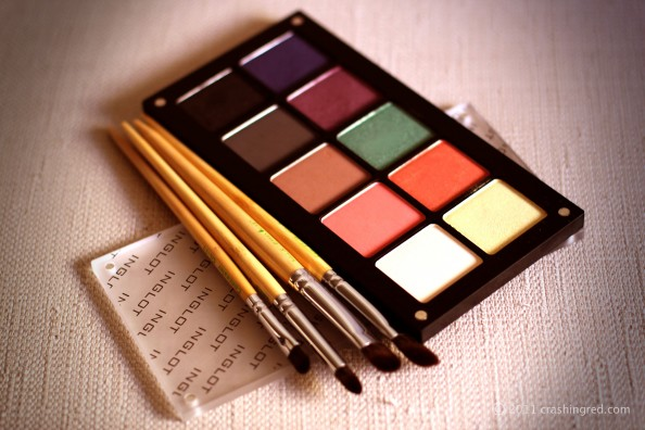 Inglot palette, eyeshadows for summer 2012, fashion blog, best makeup brushes Royal and Langnickel