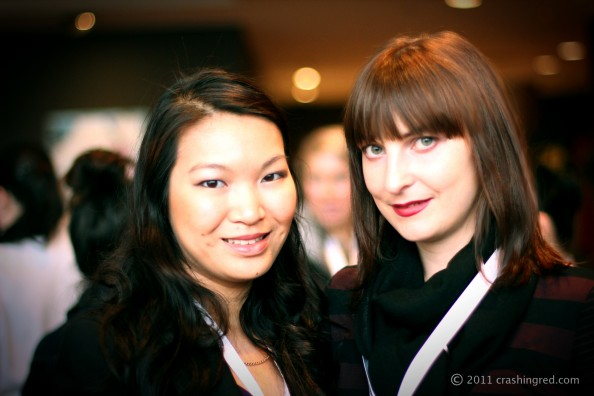 Jennise from PinkRibbonsBlog and Marusya from Crashingred, ABBW 2011, Sydney