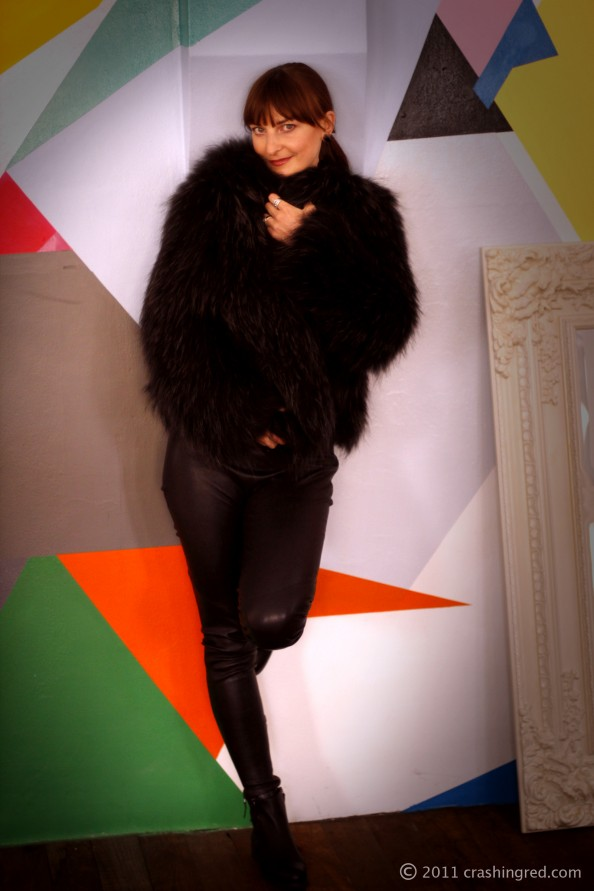 fur jacket, watson x watson, leather pants, fashion blog, marusya v fashion blogger sydney, rock chic
