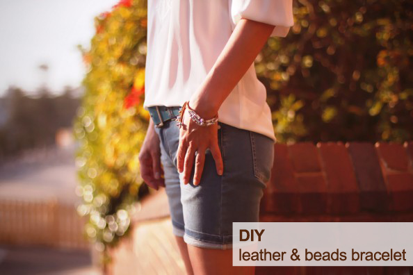 DIY-leather-and-beads-bracelet-how-to