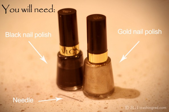 DIY manicure, gold and black, party nails, easy, fashion blog sydney