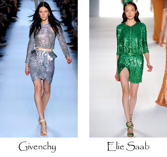 givenchy, elie saab, sequins, dressing up, glamour style, fashion trends 2012, the best fashion blog australia