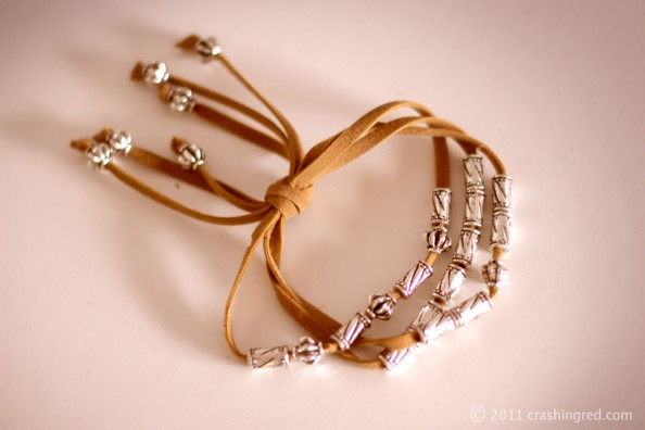 leather stap bracelet silver beads how to do it yourself DIYfashion blogger sydney 594x396 DIY leather and bead bracelet