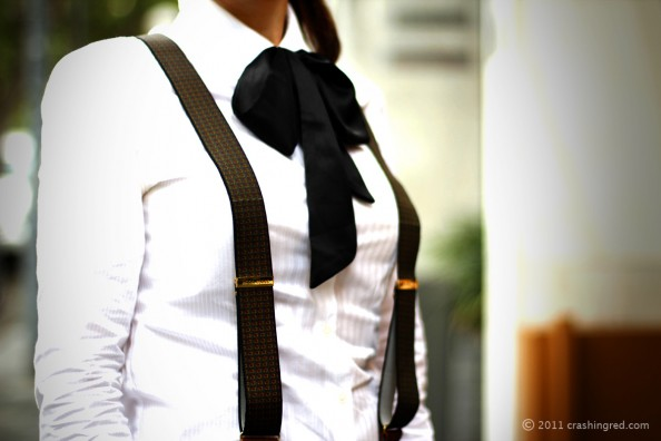 masculine style, bow tie, suspenders, fashion blog sydney