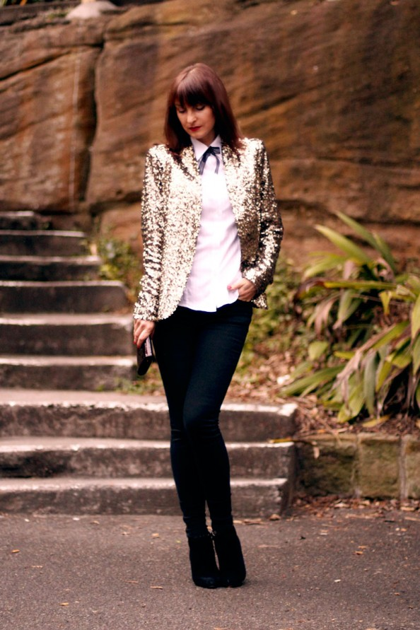 sequins jacket, zara, skinny black jeans, going out, party style, inspiration, fashion blog sydney