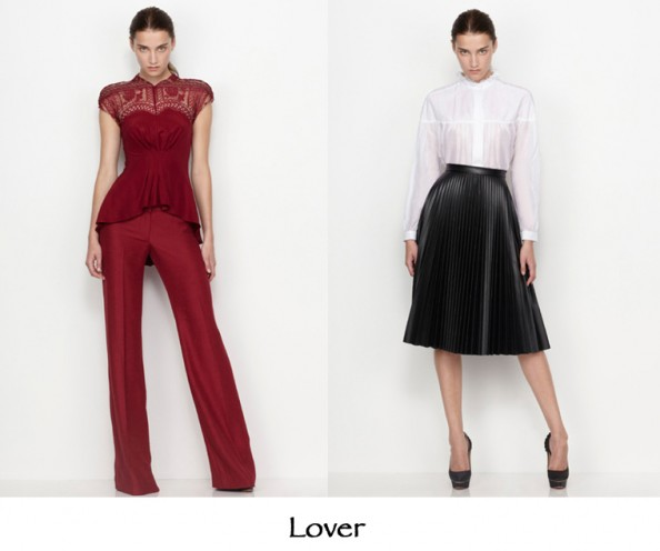 Lover the label, aw 2012 preview collection, lace and pleats, fashion trend 2012, australian designer