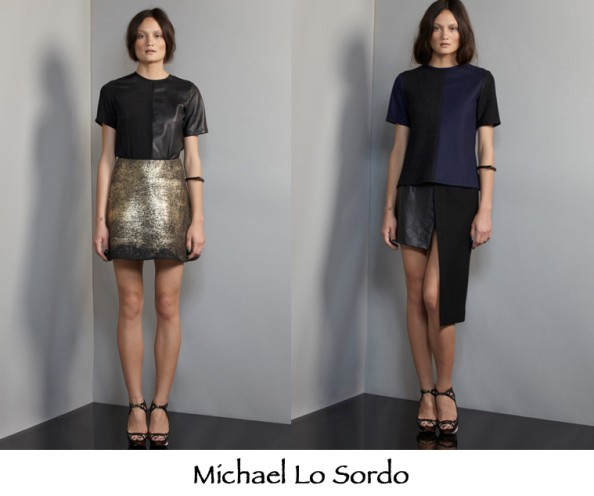 Michael Lo sordo aw 2012 collection preview, australin designer, leather assymetrical hems, fashion trend 2012, sydney fashion blog