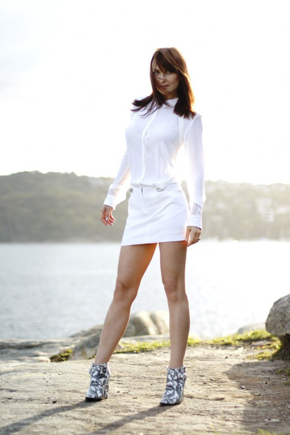 dion lee 2 braced dress white silk, summer wear, summer 2012, sydney fashion blog
