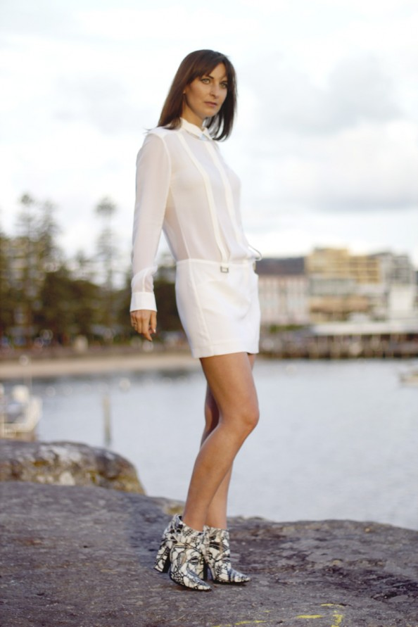 dion lee 2 braced dress white silk, summer wear, summer 2012, sydney fashion blogger