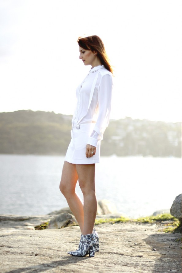 dion lee back braced dress white summer wear, australian designer, summer 2012 fashion, sydney blog