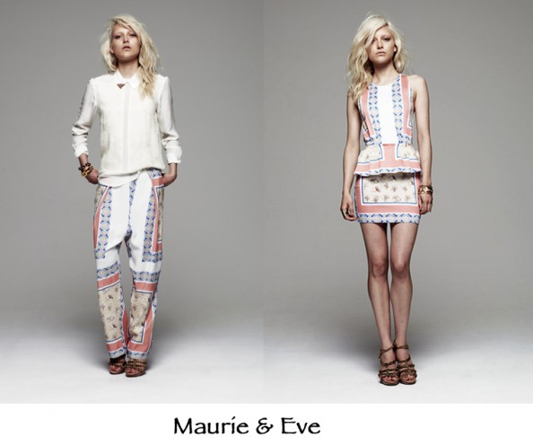 maurie and eve australian fashion, skarf print, wide lig floral pants, fashion 2012 trend
