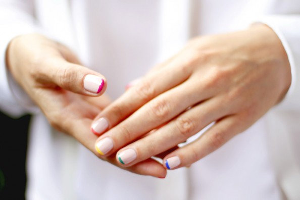 pastel nails how to, neon tips manicure, sydney beauty blog