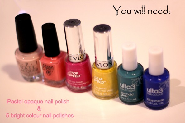 pretty nails, bright color lines, diy manicure, neon and pastel nails, naisl tutorial, sydney beauty blog