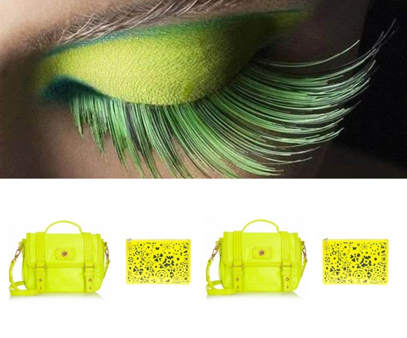bright yellow, neon yellow bag, marc jaocobs, asos bag, fashion ternd summer 2012