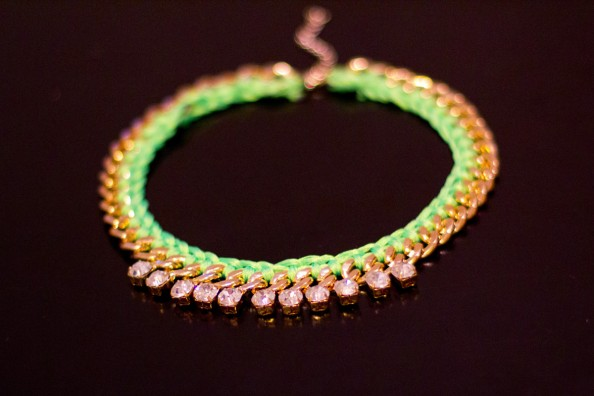 how to do yourself neon woven necklace or rope necklace, fashion trend 2012 neon, diy blog