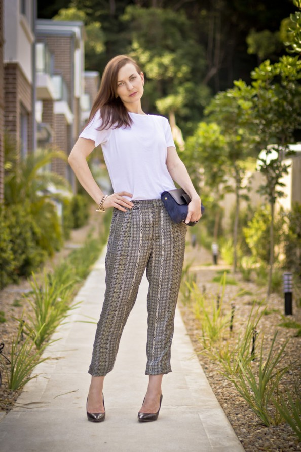 zara navajo print pants, silk haren pants, how to style printed pants, sydney fashion blog