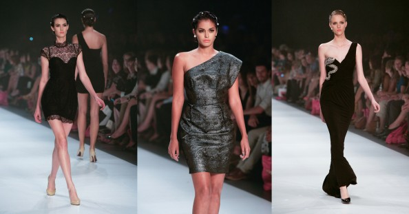 Alex Perry, lace evening dress, one shoulder dress, lmff 2012